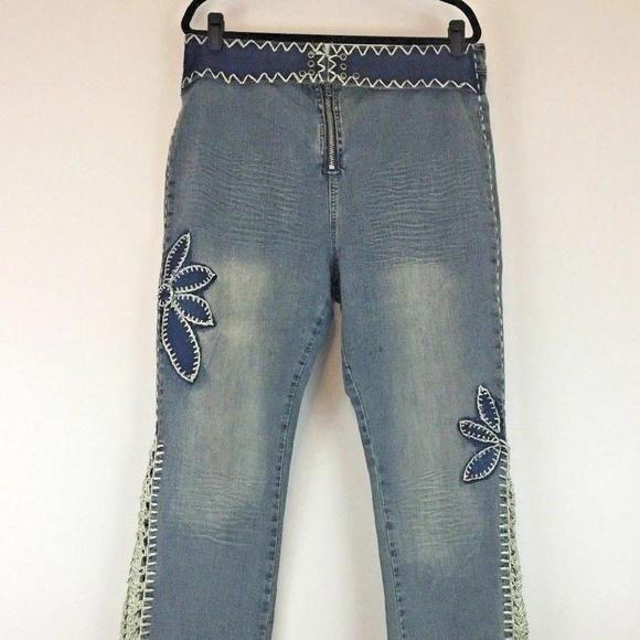 Crest Denim - Crest Jeans Size 20 Vintage Boho Hippie